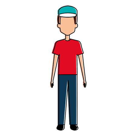 Trabajador de carácter avatar carácter vector ilustración diseño Foto de archivo - 95141661