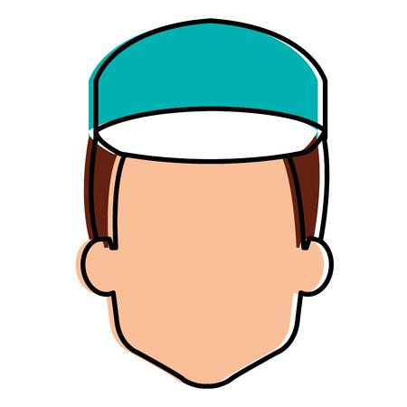 Trabajador de la cabeza avatar carácter ilustración vectorial de diseño Foto de archivo - 95133554