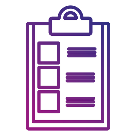 checklist document isolated icon vector illustration design Reklamní fotografie - 95133564
