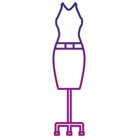 elegant feminine costume icon vector illustration design