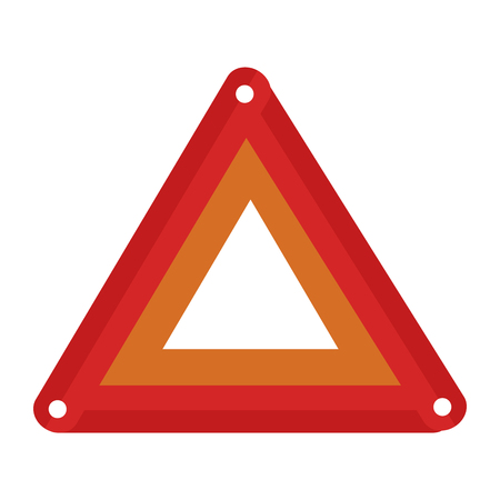 Illustration of triangle caution sign icon Illustration
