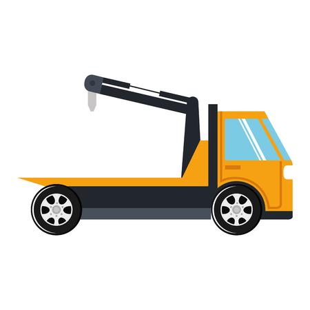 Illustration of crane truck service icon Иллюстрация