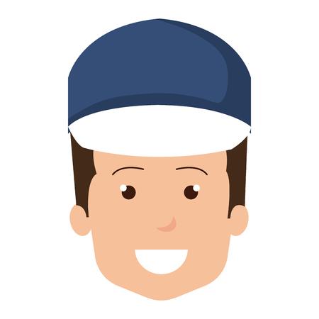 Trabajador de la cabeza avatar carácter ilustración vectorial de diseño Foto de archivo - 95158939