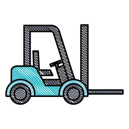 Forklift vehicle isolated icon vector illustration design
