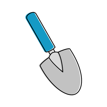 Illustration of gardening shovel isolated icon