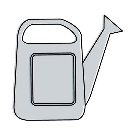 Illustration of gardening sprinkler isolated icon