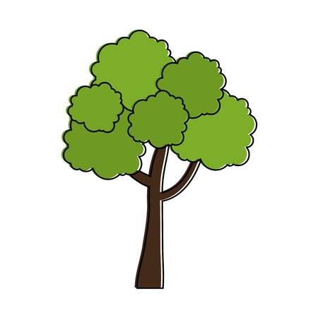 Illustration of tree plant isolated icon 일러스트