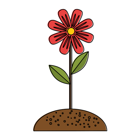 Illustration of beautiful flower cultivated icon