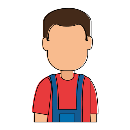 man gardener with overalls avatar character vector illustration design 版權商用圖片 - 95283861