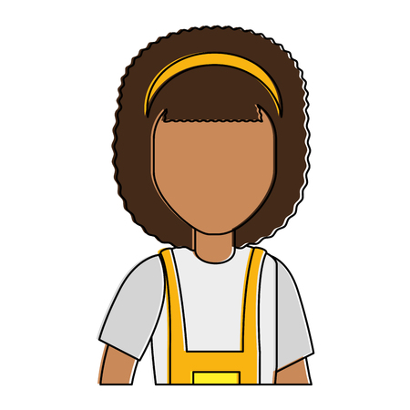woman gardener with overalls and hat avatar character vector illustration design  イラスト・ベクター素材