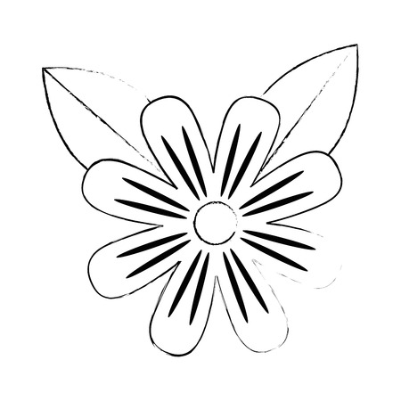 beautiful flower cultivated icon vector illustration design