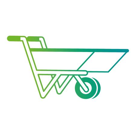 Wheelbarrow tool isolated icon vector illustration design.