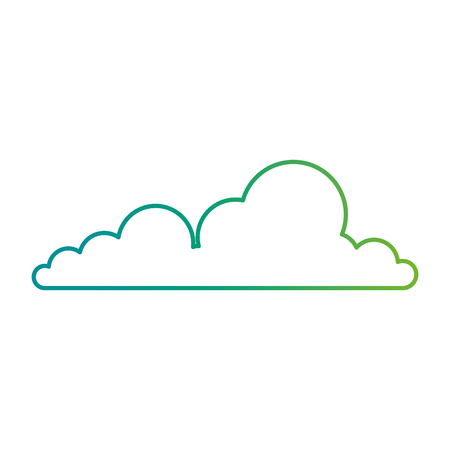 Weather cloud isolated icon vector illustration design.