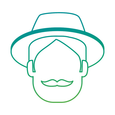 man gardener with hat avatar character avatar character vector illustration design Illustration