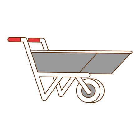 Illustration of wheelbarrow tool isolated icon Illustration