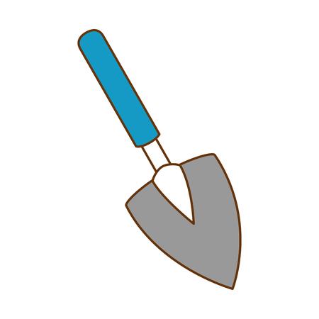 Illustration of gardening shovel isolated icon