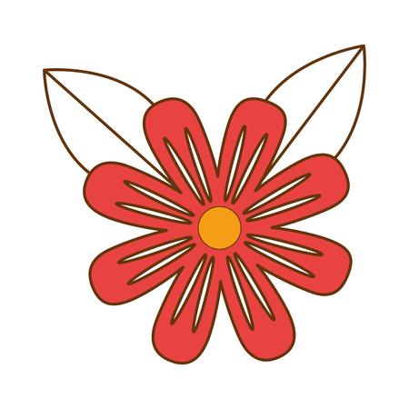 美しい花栽培アイコンのイラスト