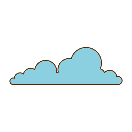 Flat weather cloud isolated icon vector illustration design