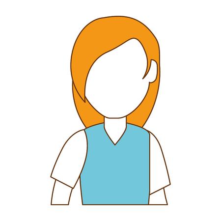 Flat beautiful woman avatar character vector illustration design