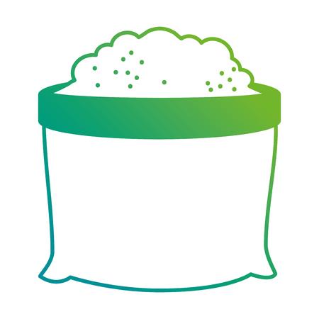 Flat ground bag isolated icon vector illustration design Иллюстрация