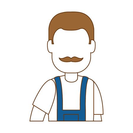 Flat man gardener with overalls avatar character vector illustration design Reklamní fotografie - 95160389