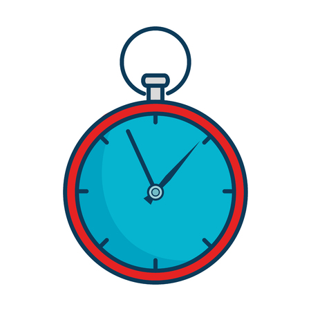 Flat time clock isolated icon vector illustration design