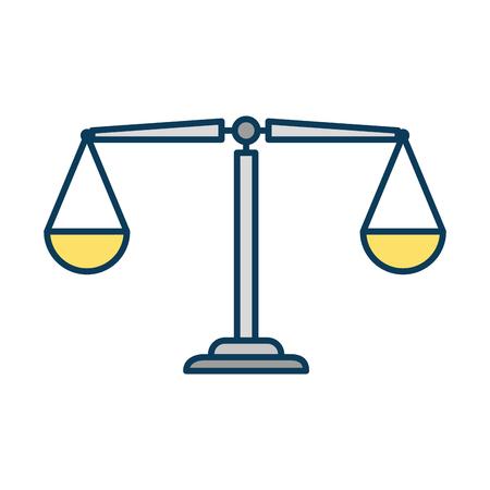 Het vlakke ontwerp van de het pictogram vectorillustratie van het rechtvaardigheidsschaal geïsoleerde