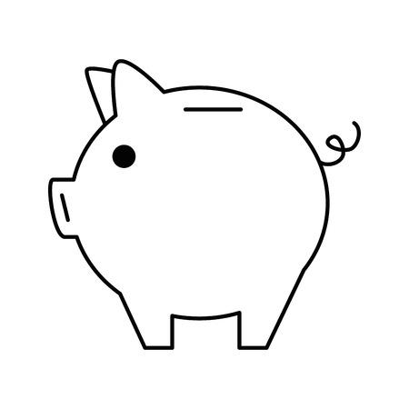Schweinchen Spar isoliert Symbol Vektor-Illustration , Design , Standard-Bild - 95052158