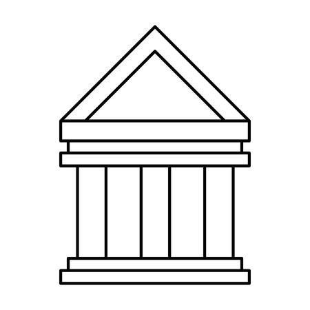 Bank building isolated icon vector illustration design.
