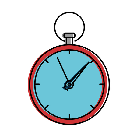 Time clock isolated icon vector illustration design 版權商用圖片 - 95052748
