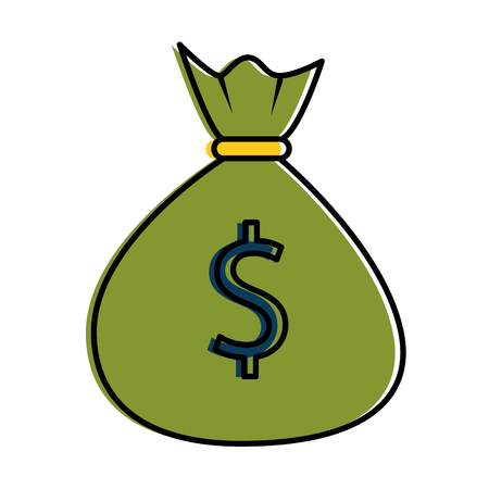Money bag isolated icon vector illustration design Vectores
