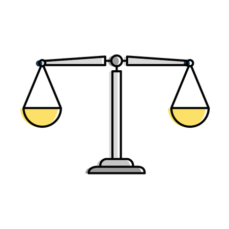 Justice scale isolated icon vector illustration design. Imagens - 95052683