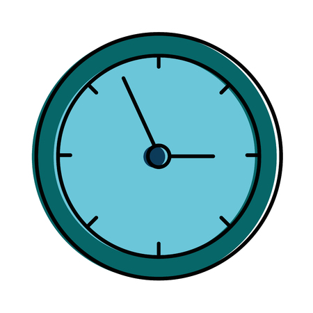 Time clock isolated icon vector illustration design. Çizim