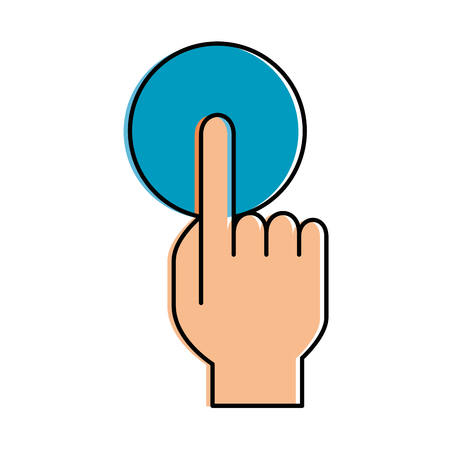 Hand touching isolated icon vector illustration design.