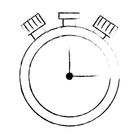 Chronometer time clock isolated icon vector illustration design.