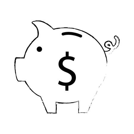 Schweinchen Spar isoliert Symbol Vektor-Illustration , Design , Standard-Bild - 95054190
