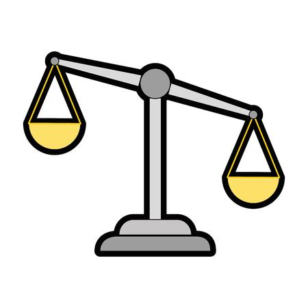 正義スケール孤立したアイコンベクトルイラストデザイン  イラスト・ベクター素材