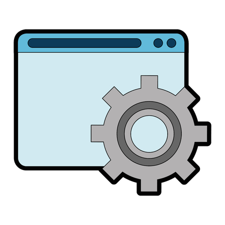 Template web with gears vector illustration design
