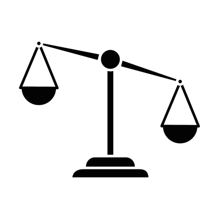 Justice scale isolated icon vector illustration design. Stock Illustratie