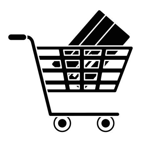 Einkaufswagen mit Kreditkarte Vektor-Illustration-design Standard-Bild - 95056902