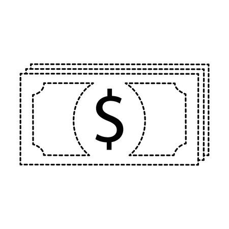 Bill dollar money icon vector illustration design  イラスト・ベクター素材