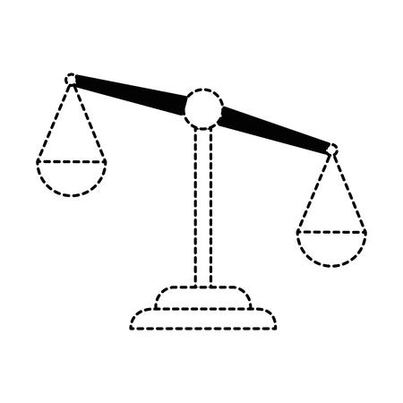 Vector de illustratieontwerp van het rechtvaardigheidsschaal geïsoleerd pictogram Stock Illustratie