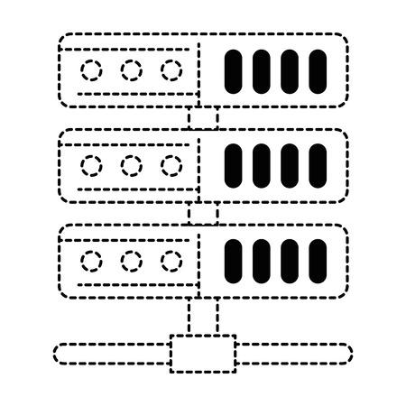 data server isolated icon vector illustration design