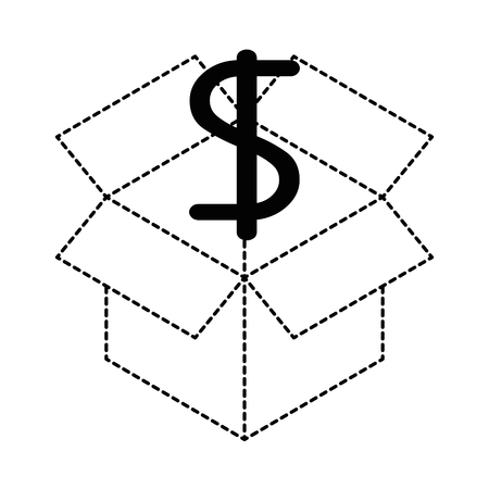 cube with dollar symbol vector illustration design Иллюстрация