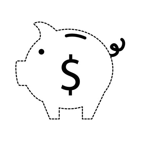 Schweinchen Spar isoliert Symbol Vektor-Illustration , Design , Standard-Bild - 95057777
