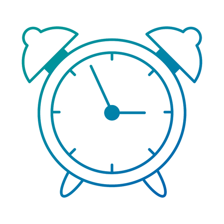 Alarm time clock isolated icon vector illustration design.