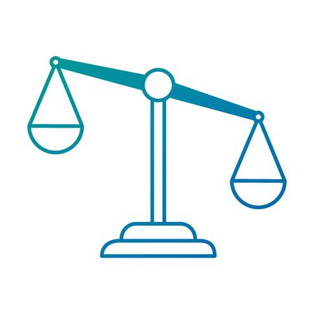 Vector de illustratieontwerp van het rechtvaardigheidsschaal geïsoleerd pictogram.