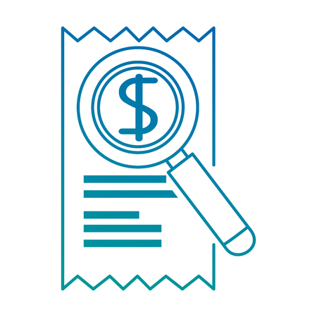 magnifying glass with receipt vector illustration design