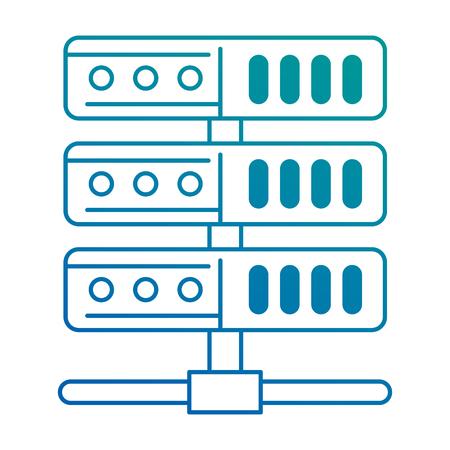 Data server isolated icon vector illustration design.