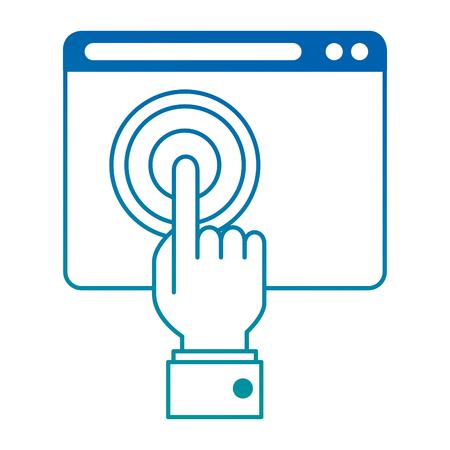 hand touching isolated icon vector illustration design 일러스트